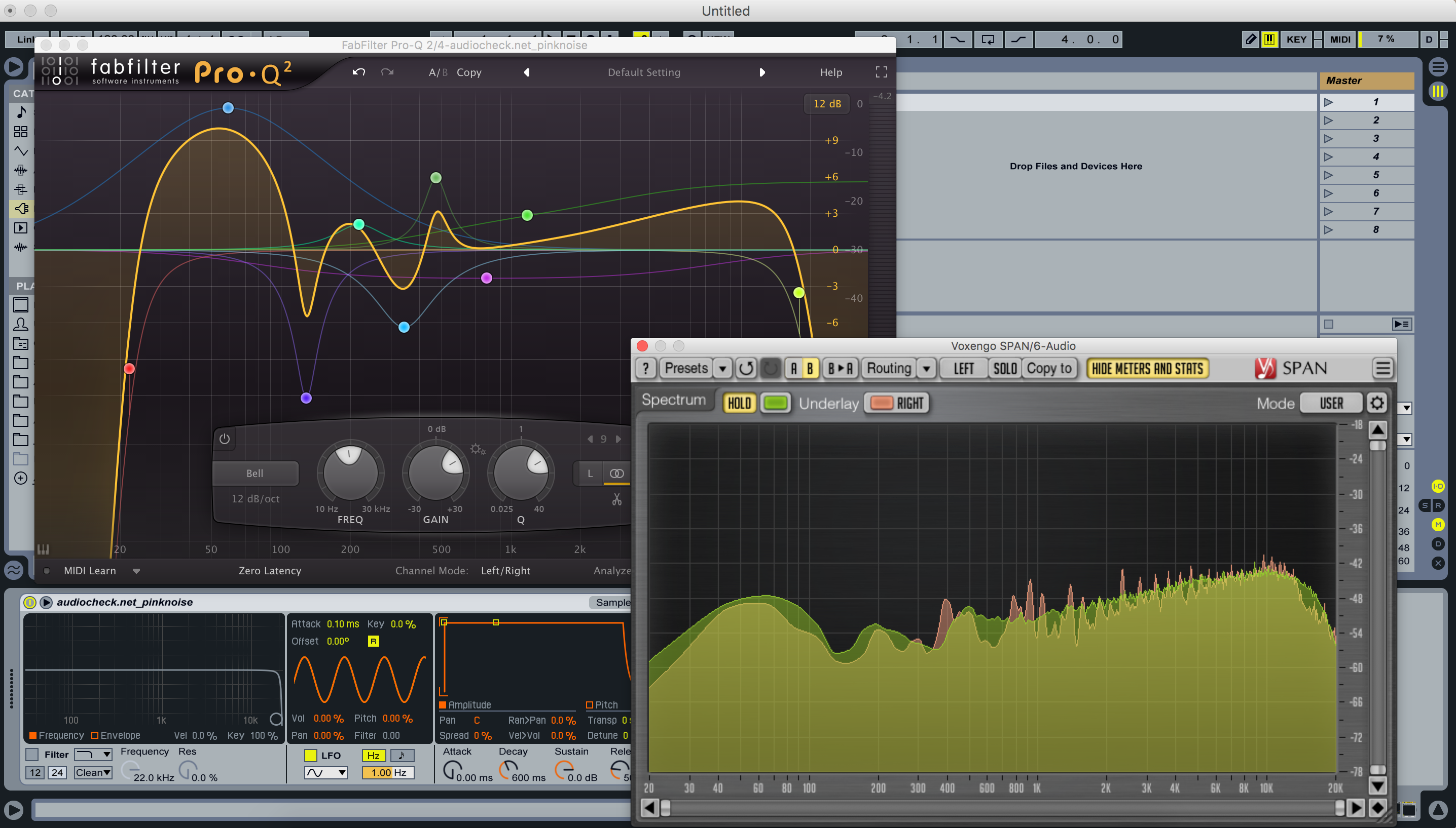 Reference mixing with pink noise » Live Racks